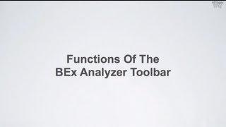 SAP BW BI - Functions of the SAP BEx Analyzer Toolbar