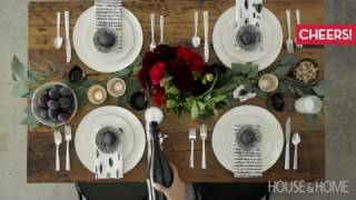 Interior Design — How To Set A Modern & Eclectic Holiday Table