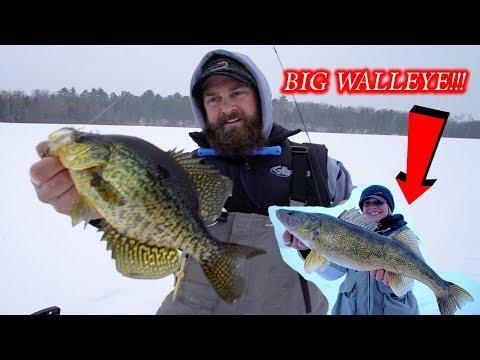Northwoods Early Ice Panfish / Tip Up Fishing Walleye