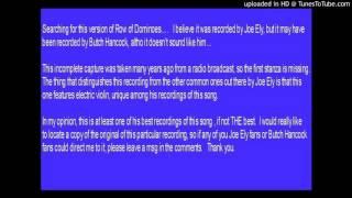 Joe Ely - Row of Dominoes (radio recording)