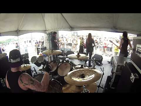Extractus-From The Sky, live Drum Cam, 2013 Rockstar Energy Mayhem Festival, Camden NJ 7/19/2013