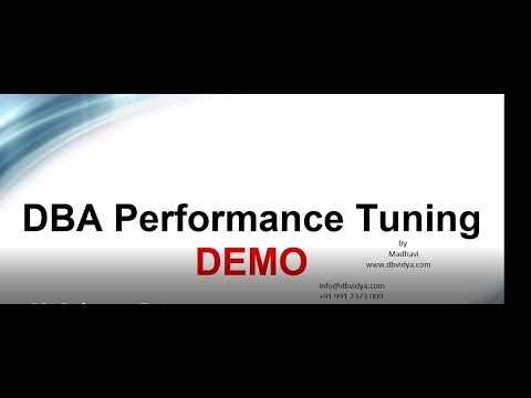 oracle dba performance tuning