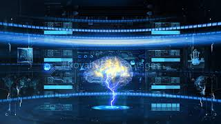 artificial intelligence HD | Hitech background stock footage | Royalty Free Footages, cyber security