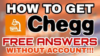 HOW TO GET CHEGG ANSWERS FOR FREE WITHOUT AN ACCOUNT (SOLVED - WORKING 2021)