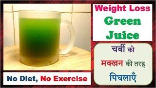 Weight loss GREEN JUICE, चर्बी को मक्खन की तरह पिघलाएँ, NO DIET-NO EXERCISE, Detox Juice, Dr Shalini