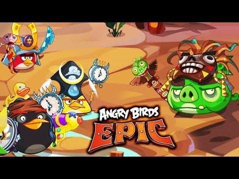 Мульт Игра про СЕРДИТЫХ ПТИЧЕК Энгри Бердс Детский летсплей Angry Birds Epic