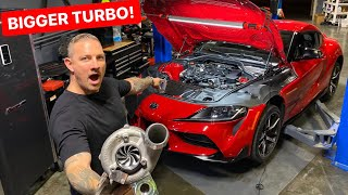 OUR 2020 SUPRA GETS BIGGER TURBO & TUNE! *INSTALL / FIRST DRIVE*