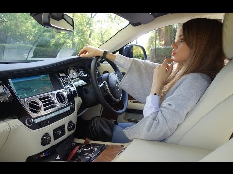 Xenia Tchoumitcheva driving the Rolls Royce Wraith 2014