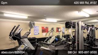 preview picture of video '420 Mill Rd, #107 Etobicoke ON M9C1Z1'