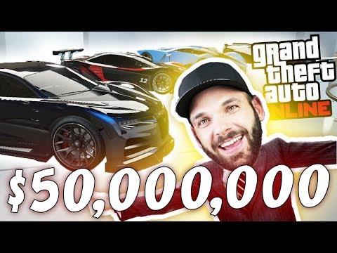 MOJE AUTA ZA $50,000,000 v GTA V ONLINE