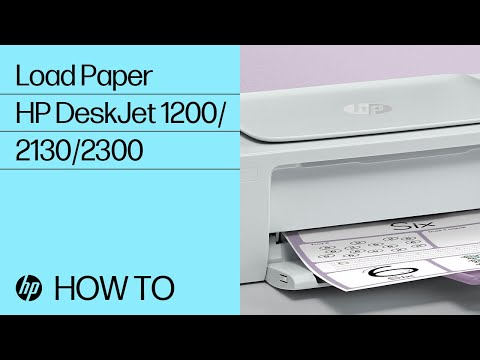 Loading Paper into the HP DeskJet 1200, 2130, Ink Advantage 1200, and 2300 All-in-One Printer Series