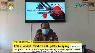 Press Release Covid -19 Kabupaten Ketapang (10 Agustus 2020)