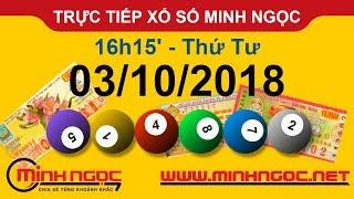 Xổ số Minh Ngọc™ Thứ Tư 03/10/2018 - Kênh chính thức từ Minhngoc.net.vn