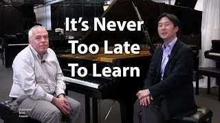 It's never too late to learn to play the piano! Mike Evaniuk on The Cunningham Piano Show