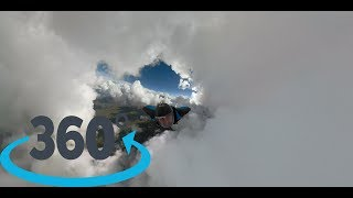 Wingsuit Cloud Flight – 360 VR GoPro Fusion (complete Flight)