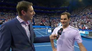 Roger Federer on-court interview (RR) | Mastercard Hopman Cup 2018