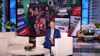 Ellen Shocks Sweet Family with All of the 12 Days of Giveaways!