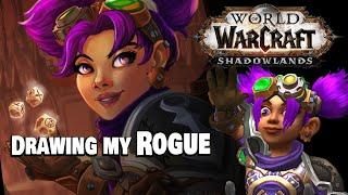 World of Warcraft Fan Art – Gnome Rogue Time Lapse