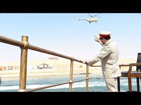 Al-Sissi inaugure en grande pompe l'élargissement du canal de Suez