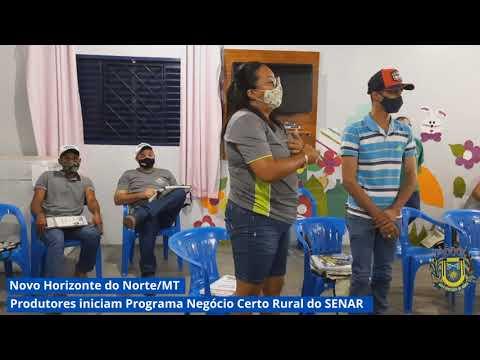 Produtores de Novo Horizonte do Norte iniciam Programa Negócio Certo Rural do Senar