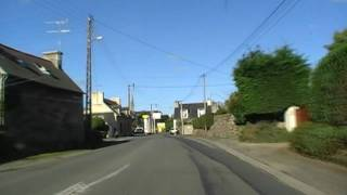 preview picture of video 'Driving Along Rue Ar Guer Vian D789, Ploubazlanec, Côtes d'Armor, Brittany 12th October 2009'