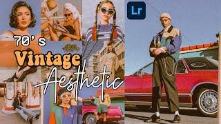 70s Vintage Aesthetic Filter Tutorial   Free Lightroom Mobile Presets DNG   70s Vintage Aesthetic
