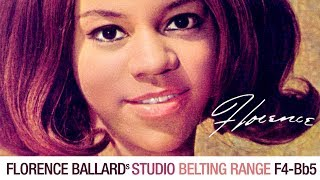 Florence Ballard's Belting Range in 1 Minute (Studio) [F4-Bb5]
