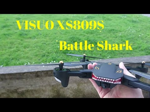 Visuo XS809S Battle Shark Outdoor Flight In Scary Winds