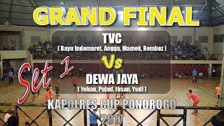 FINAL Set 1 TVC(Bayu Indomaret,Angga,Mamek,Remboz Vs Dewa Jaya(Yohan)   Kapolres Cup Ponorogo 2017