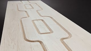 Building A Bookcase With An Art Deco Pattern Carved In The Side