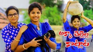 అక్క చెల్లెళ్ల కొట్లాట Akka Chellella Kotlaata #03 Village  Comedy Short Film My Village Muchatlu