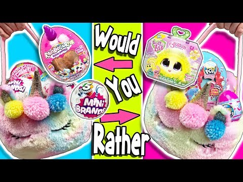 Video Would You Rather Unicorn Easter Baskets Challenge Lots Of