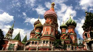 Videos van steden en landen als ecard, City tour in Moscow Russian capital Discovering..