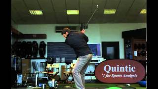 Bradley Dredge - 6 iron - filmed in slow motion by Quintic Consultancy