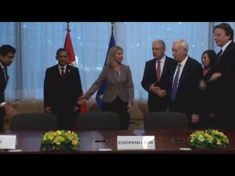 EU Peru Signing Ceremony