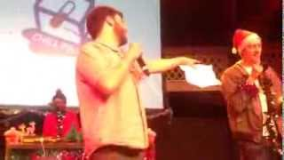 Headline poem at Chill Pill Christmas Special @ The Albany (Adam Kammerling & Simon Mole)