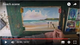 simple beach painting video demonstration
