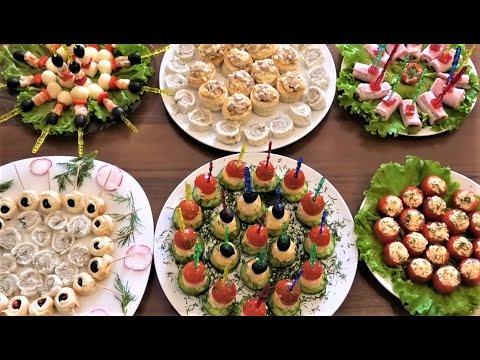 7 простых РЕЦЕПТОВ красивых и вкусных ЗАКУСОК. Праздничный стол.