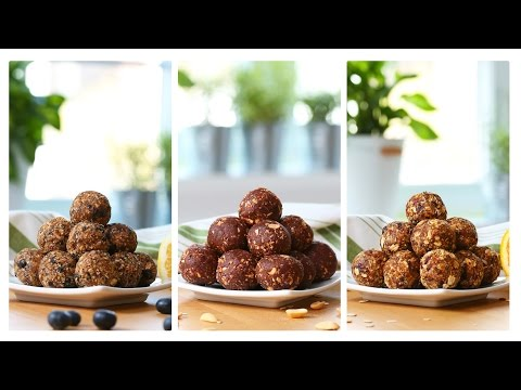 Video Healthy No-Bake Energy Bites | 3 Delicious Ways