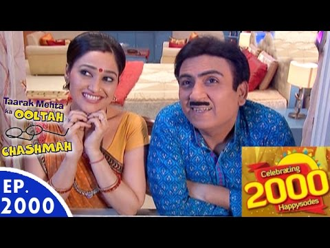 Download Taarak Mehta Ka Ooltah Chashmah - तारक मेहता - Episode 2000 - 11th August, 2016 HD Mp4 3GP Video and MP3