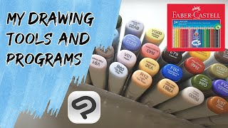 My Drawing materials and programs