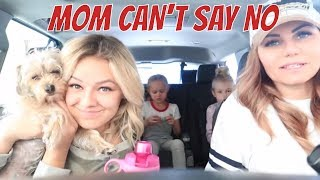MOM CAN'T SAY NO FOR THE DAY | THE LEROYS