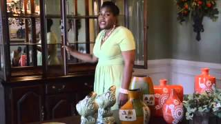 DGW Interiors  DIY China Cabinet Decor