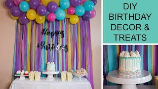 DIY BIRTHDAY PARTY DECOR, TREATS & HOMEMADE SPRINKLES