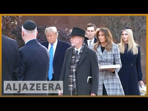 🇺🇸 'Leave Pittsburgh': Protesters greet Trump after synagogue attack | Al Jazeera English