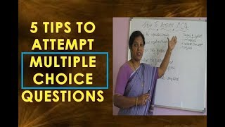 HOW TO ATTEMPT MULTIPLE CHOICE QUESTIONS IN COMPETITIVE EXAMS
