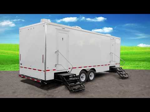 Portable Restrooms Trailer | 8 Station Royal Luxury Series