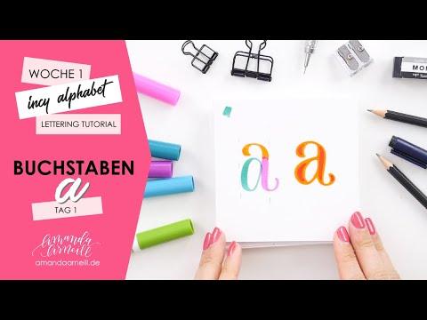 Mini Alphabet Lettering Tutorial   Buchstaben A   Tag 1