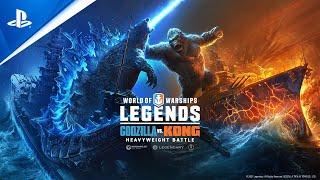 PlayStation World of Warships: Legends – Godzilla versus Kong: Heavyweight Battle | PS5 anuncio