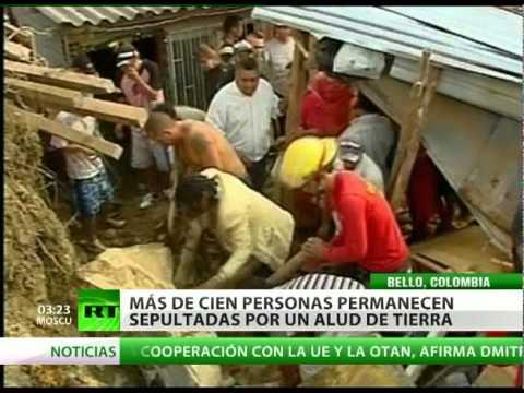 A 22 se elevó el número de muertos del alud en Colombia